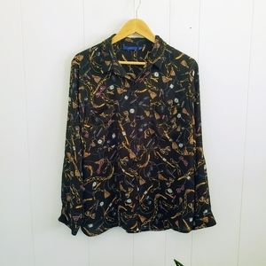 Apt. 9 Accessorie Print Button Down Long Sleeve
